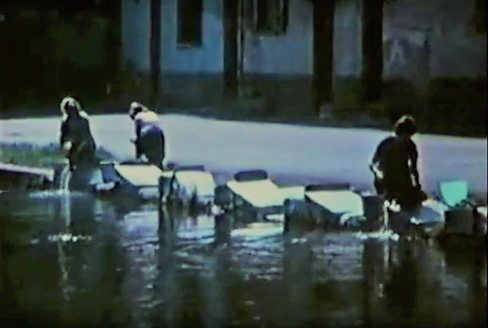 Barona 1962. Alzaia Naviglio Grande (lavandaie-cascina e osteria Dosso)