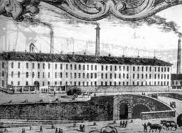 Riproduzione delle Cartiere Ambrogio Binda all'atto della loro costruzione, intorno al 1857