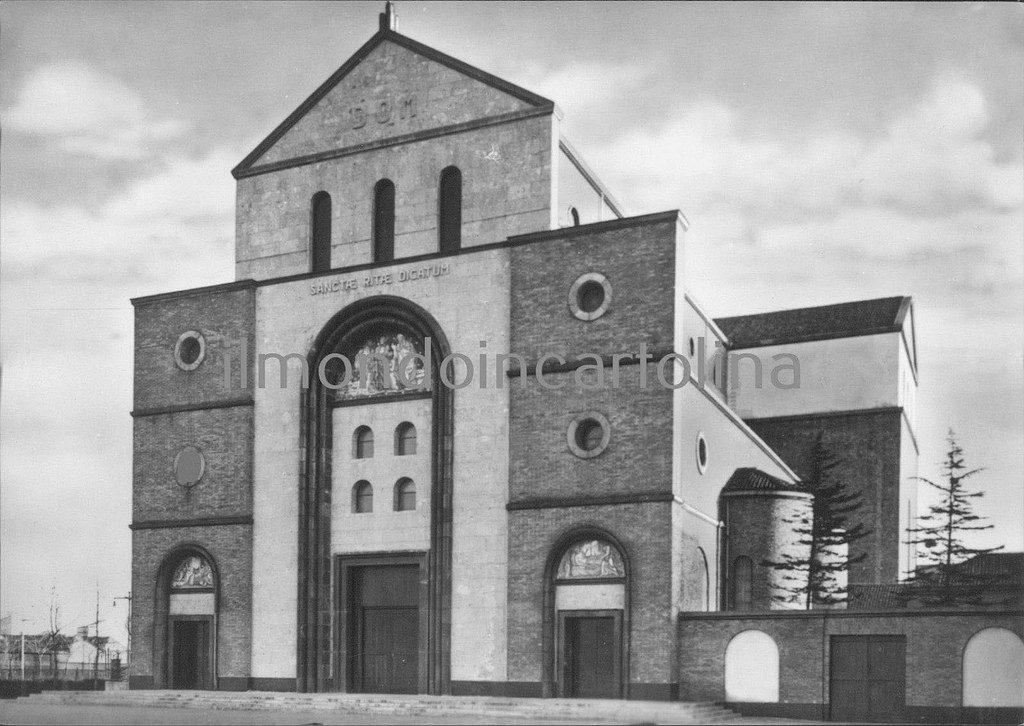 Milano Barona, Santuario S. Rita da Cascia 1960 circa (da Milàn l'era inscì)