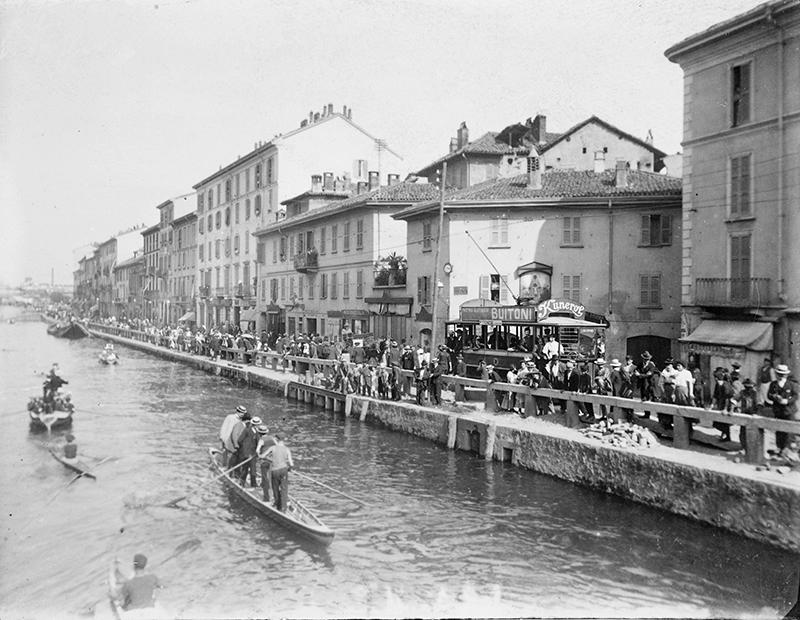 Milano Barona festa di San Cristoforo primi XX secolo di Giuseppe Pessina ristampa Gruppo 66 Milano città delle scienze
