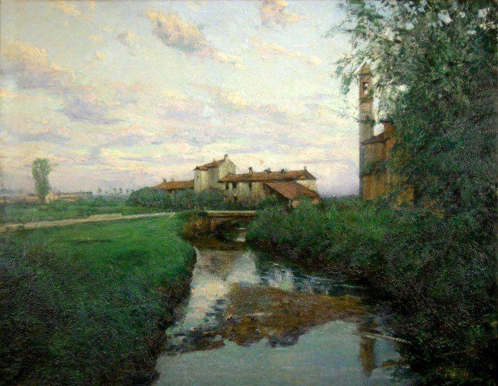 Cascina alla Barona,Gianni Maimeri (1884-1951), olio su tela (Fondazione Maimeri)