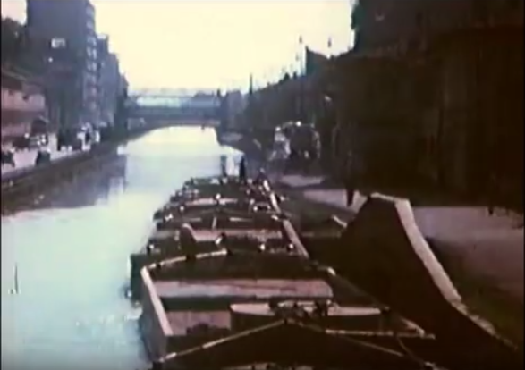 Dai barconi, Naviglio Grande eOsteria Dosso 1962 (sul lato destro)