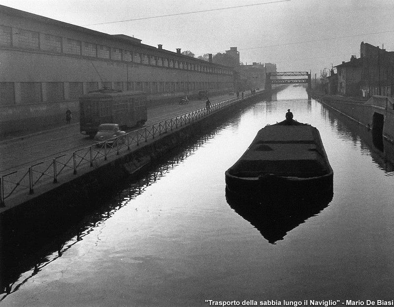 Naviglio Grande e l'ala Nord della Richard Ginori meta' anni 50 (fotografo: Marco de Biasi) Fonte: Pinterest