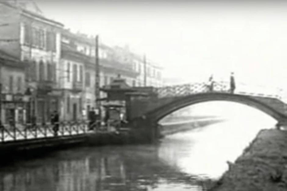 Ponte ed Edicola di S. Cristoforo primi anni '50