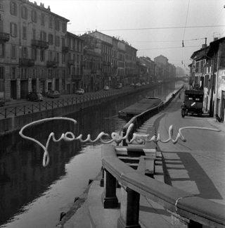 Ripa e Alzaia di Porta Ticinese, 1963, foro di Giancolombo