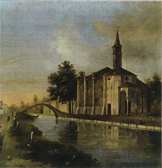 San Cristoforo sul Naviglio Grande (olio su tela, parte absidale della chiesa).