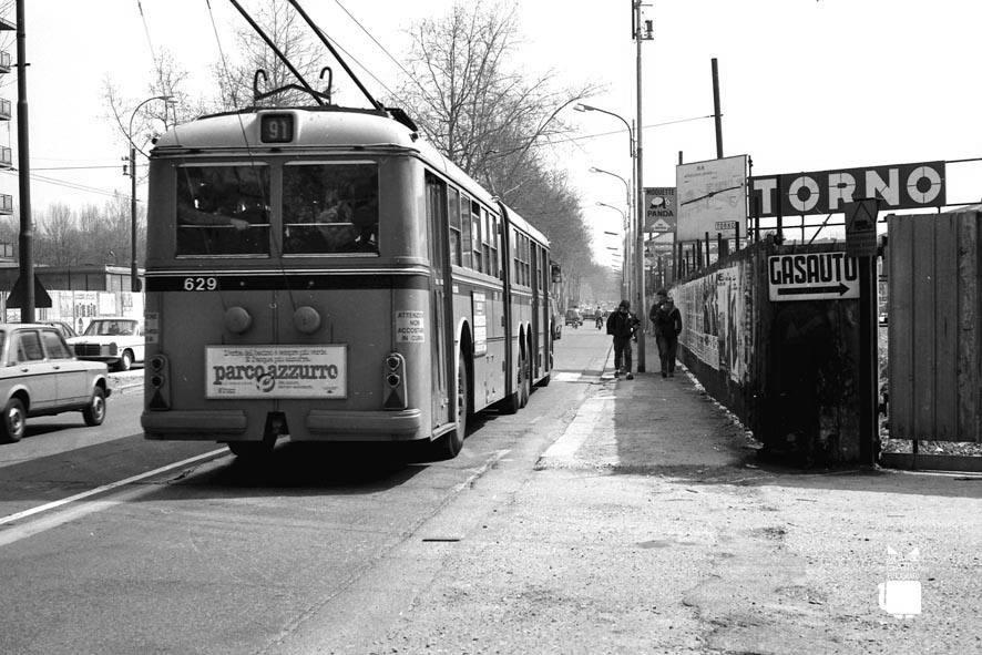 Cantiere Metropolitana M2 Stazione Romolo, 1983 circa