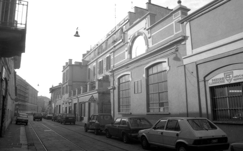 Via Pestalozzi (corrispondenza civico 4), (seconda meta' anni '80) (geoportale comune milano)
