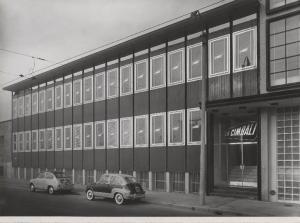 Viale Cassala, primi anni '60. Stabilimento La Cimbali. Fonte: Lombardia Beni Culturali