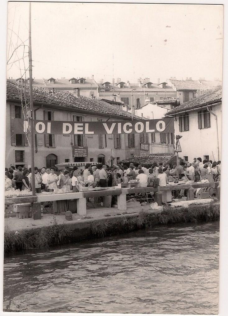 Siamo un po fuori zona... Vicolo Lavandai, festa del Naviglio (e del Vicolo) 1983