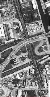 aerofoto colatore Olona anni 60 Piazzale delle Milizie Via Pesto e San Cristoforo.