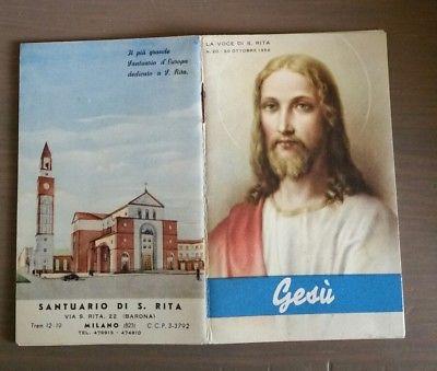 Un secondo esemplare di libretto liturgiico del Santuario di Santa Rita da Cascia alla Barona (edito nel 1956). Fonte: Piclick.it
