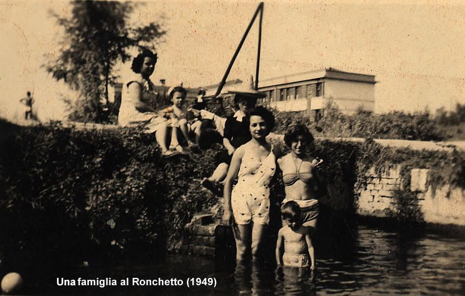 Ronchetto sul Naviglio (alle spalle l'attuale Istituto Comprensivo Statale Ilaria Alpi di Via S. Colombano). Fonte : https://gliamicidelgiambellino.weebly.com/foto-vecchie.html