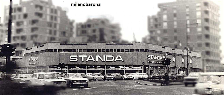 Milano 1975 circa, tra Rottole, Cimiano e Lambrate, Magazzini STANDA di Via Palmanova angolo Via Bruno Cesana. (fonte curiosando708090.altervista)