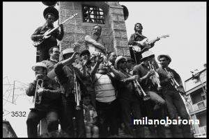 Milano primi anni '80, Lorenteggio/Giambellino, Festa del Giglio lungo via Vespri Siciliani. (Lombardia beni culturali)