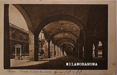 Milano Duomo 1933. Porticato Piazza dei Mercanti.