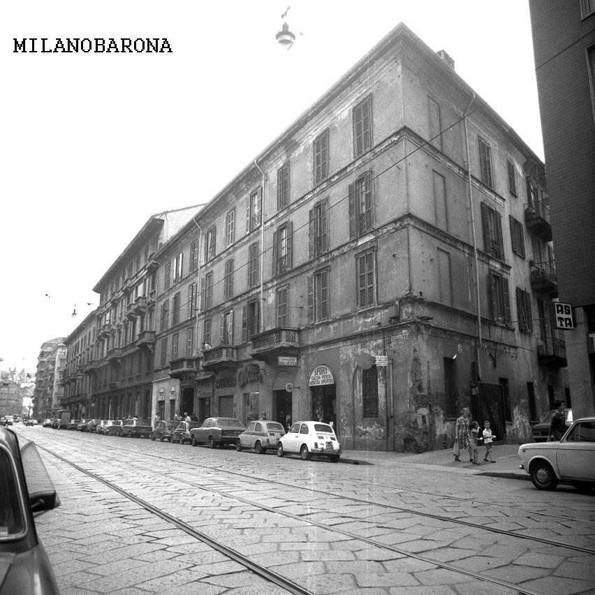 Milano Ticinese primi anni '70. Viale Col di Lana. (fonte: geoportale comune milano)