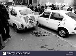 Milano 19 Aprile 1979. Barona. Via Modica angolo Via Santa Rita da Cascia. Luogo dell'agguato mortale teso all'agente DIGOS Andrea Campagna su esecuzione PAC Proletari Armati per il terrorismo.