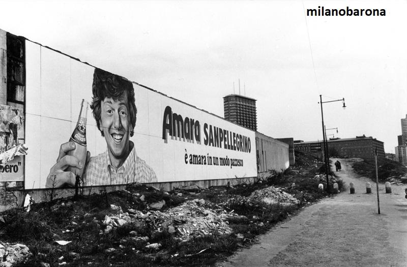 Milano 1978 Porta Garibaldi. Piazza Sigmund Freud.