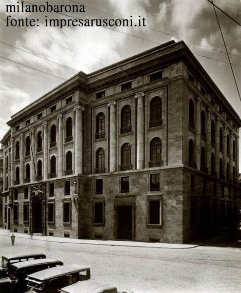 Milano 1930. Piazza Missori e sede INPS.
