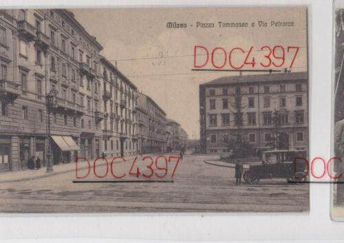 Tra Porta Magenta e Sempione, 1930 circa. Piazza Nicolò Tommaseo verso Via Francesco Petrasca. (fonte immagine: web losciame.it)