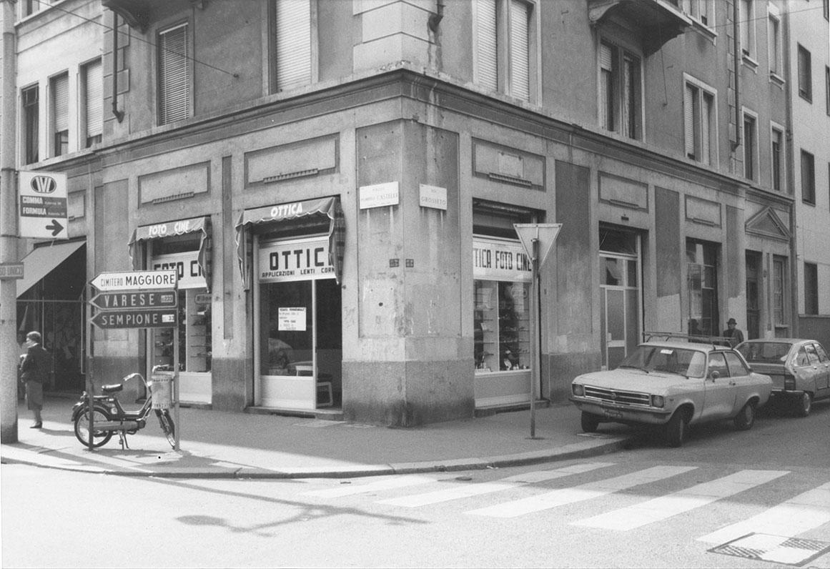 Villapizzone 1978. Piazza Pompeo Castelli angolo Via Grosseto. (fonte immagine web pubblicitario)