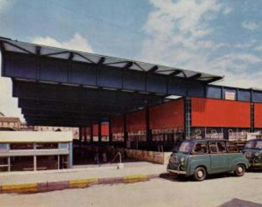 Stazione di Porta Garibaldi, 1963 circa. (fonte immagine: web Lombardia beni culturali)