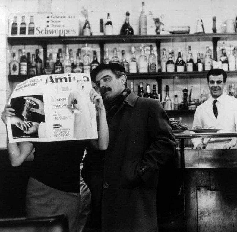 Brera 1964. Bar Jamaica. (autore Uliano Lucas, web omonimo).