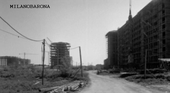 Milano fine anni '50. Parco Lambro-Via Feltre e il costruendo lotto di Via Pisani Dossi. (fonte web twbiblio.com)