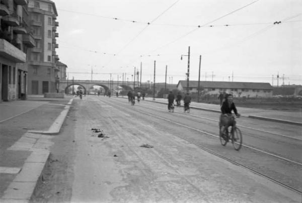 Viale Corsica nel 1940. Autore immagine Federico Patellani (fonte Lombardia beni culturali)