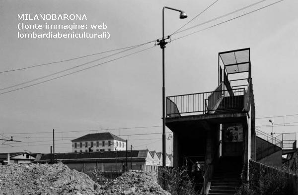 Ortica-Forlanini fine anni '7'. Via Arcangelo Corelli e sovrappasso pedonale ferroviario. Fonte immagine: web lombardiabeniculturali-