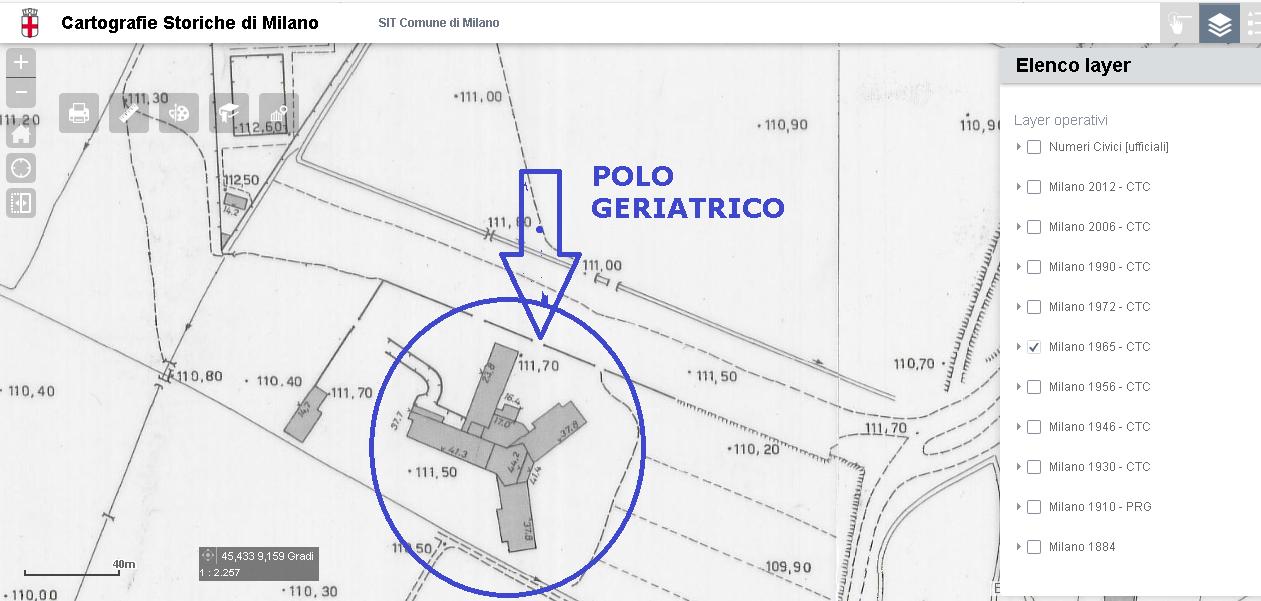 Barona '65 circa, mappa CTC Via Antonio di Rudinì