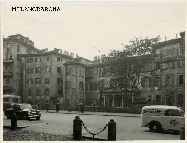 Via Senato (dal civico 3), fine anni '50. (fonte Lombardia beni culturali)