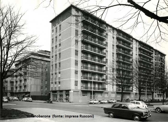 Milano 1957 Porta Romana. Viale Lazio. (fonte web impresa Rusconi)