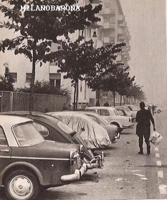 Milano Mecenate-Taliedo 1967. Viale Ungheria (primi numeri civici a ridosso dell'incrocio con Via Oreste Salomome (fonte web: 2.bp.blogspot)