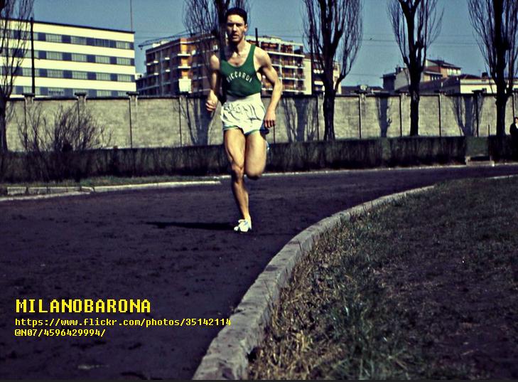 Città Studi-Lambrate 1962. Pista di allenamento atletica leggera del Centro Sportivo Giurati. (fonte immagine visualizzata nella foto).
