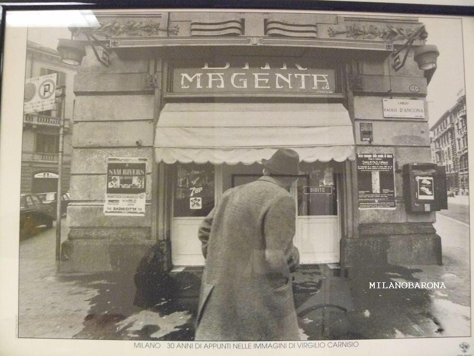 Milano Corso Magenta-Largo Paolo d'Ancona (anni '70). Autore immagine Virgilio Carnisio (fonte web milanodavedere)