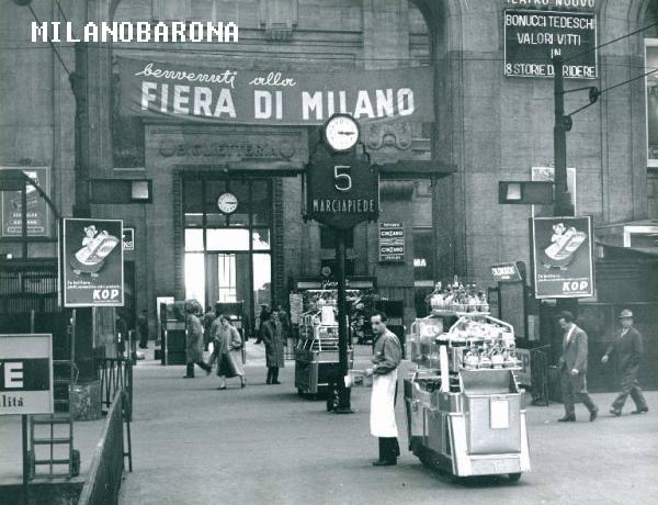 Stazione Centrale 1957. Binario 5. (fonte: web Lombardiabeniculturali)