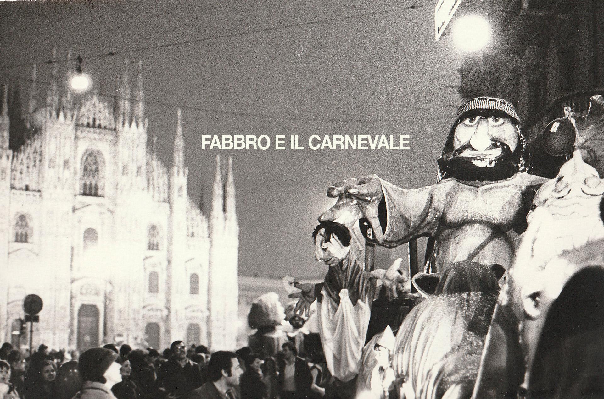 Caeenevale Ambrosiano 1980, sfilata di carri in Piazza Duomo. (fonte immagine: web bollateoggi)
