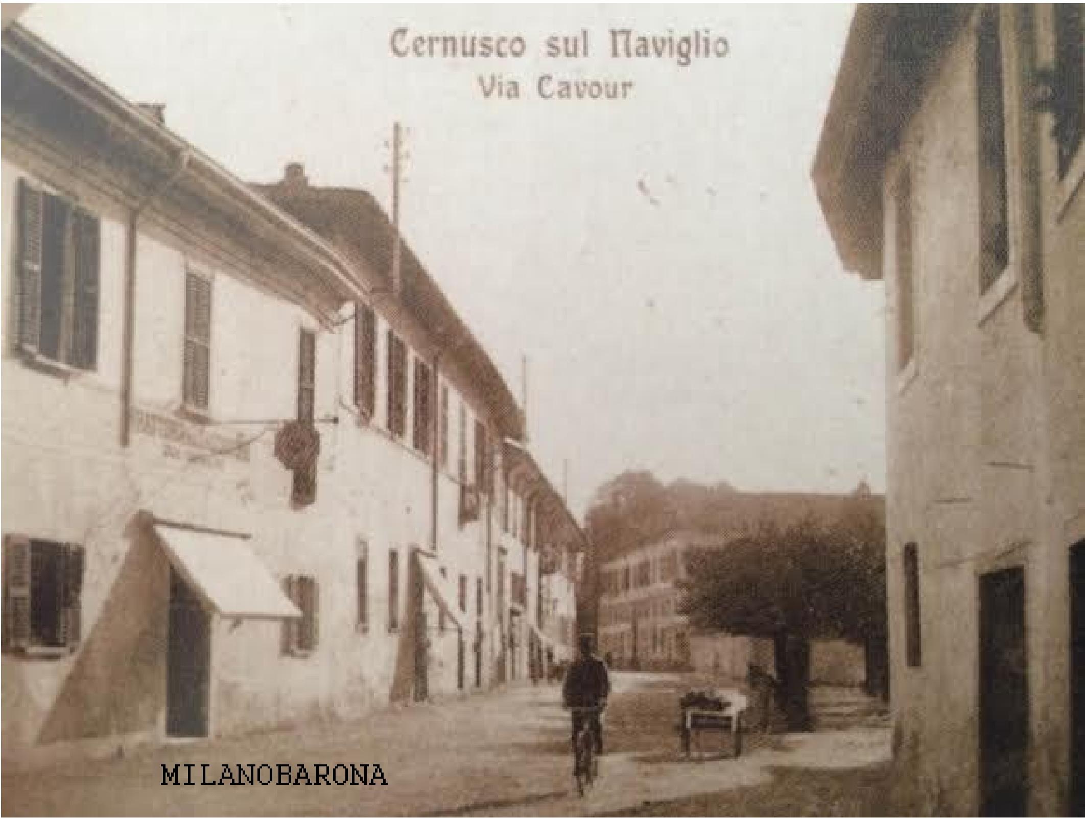 Cernusco sul Naviglio 1917 circa. Via Camillo Benso di Cavour.