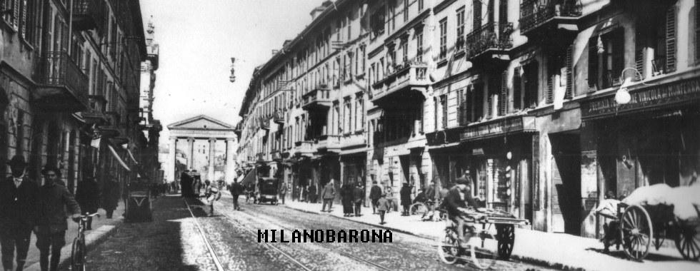Ticinese 1920 circa- Corso San Gottardo. (fonte: web pubblicitario)