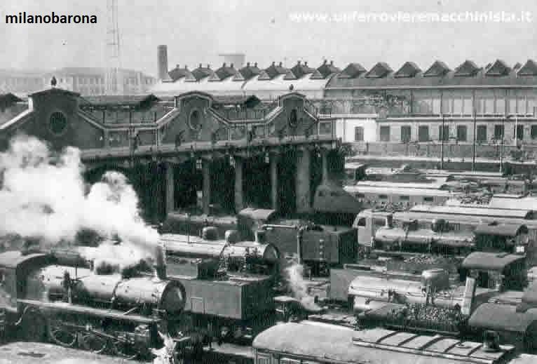 Milano Greco anni '30 del 1900. Deoposito locomotive e officine di manutenzione a ridosso della Stazione Centrale, all'epoca appena ultimata ed entrata in esercizio. (fonte fotografica: web unferrovieremacchinista.it)