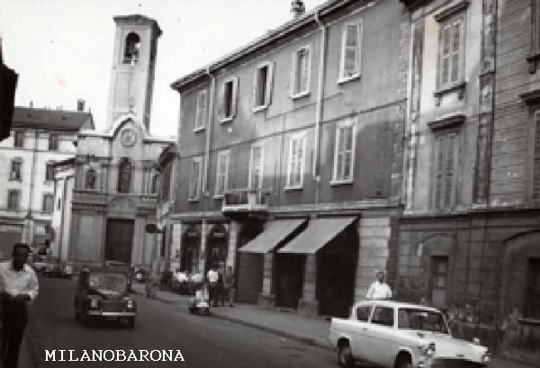 Milano 1960 circa. Dergano, Via Ignazio Ciaia. (fonte fotografica: Lombardia beni culturali).