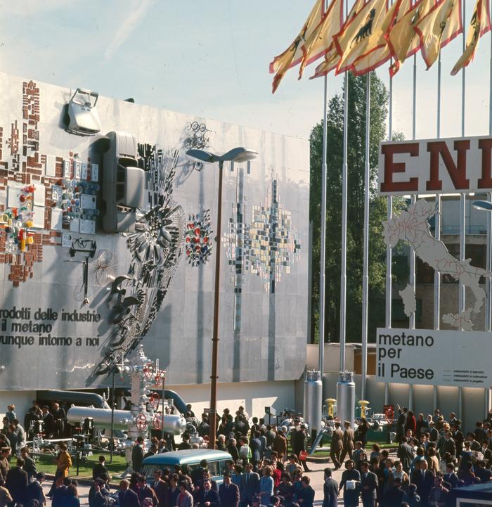 Area espositiva e istituzionale dell'ENI alla Fiera Campionaria (1960 circa), (fonte web: fondazione fiera)