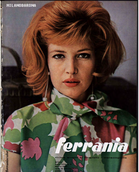 Miano 1963. Copertina del periodico di fotografia professionale e semiprofessionale Ferrania (la redazione era a Milano). Fonte immagine web Fondazione3M