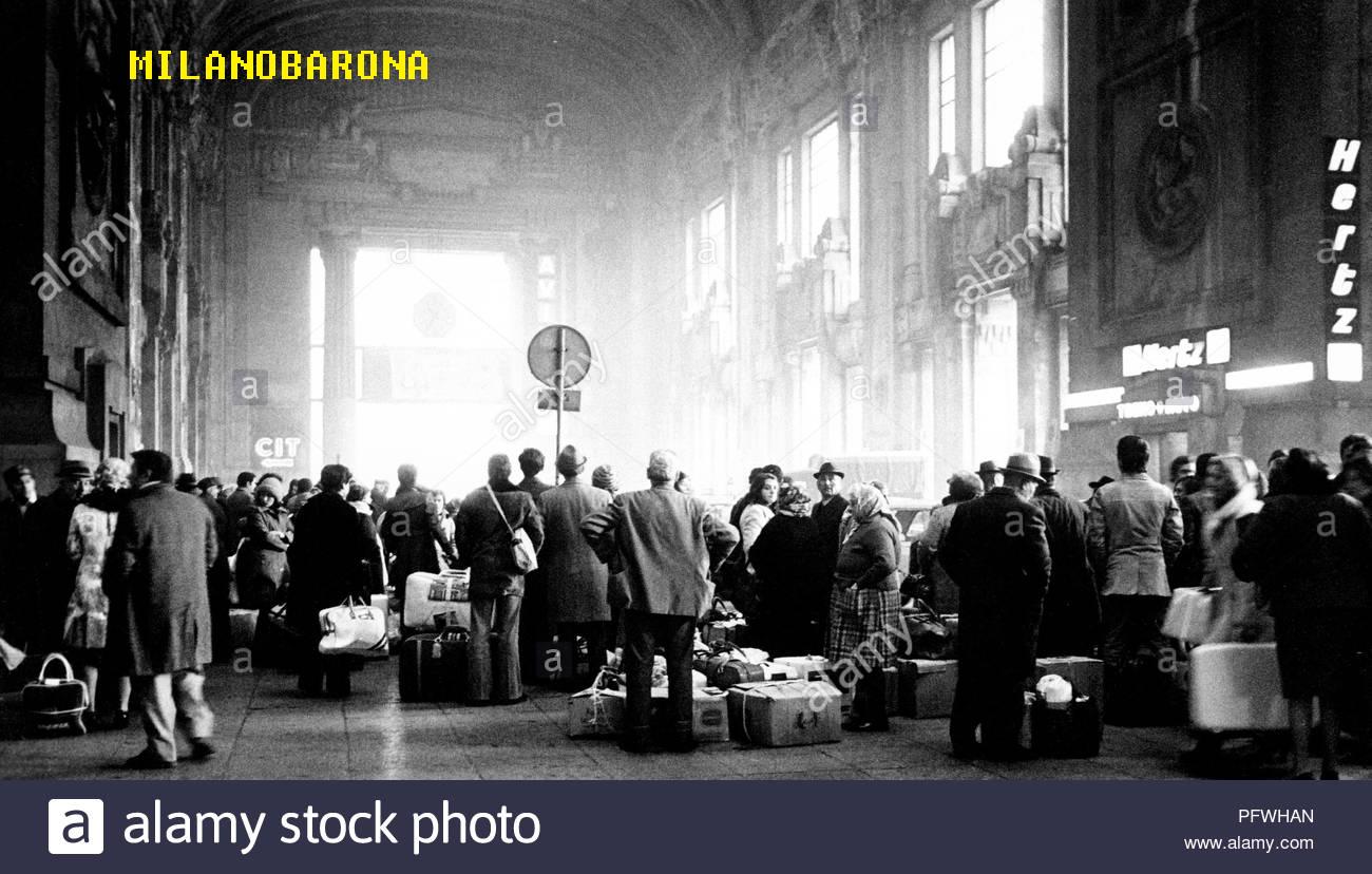 Stazione Centrale, Galleria delle Carrozze, primi anni '70.