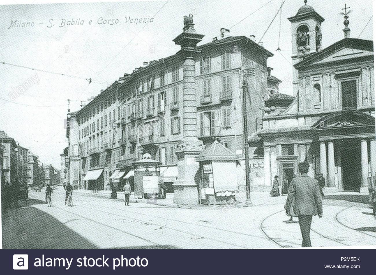 """""""Largo"""" San Babila tra il primo e secondo decennio del 1900."""