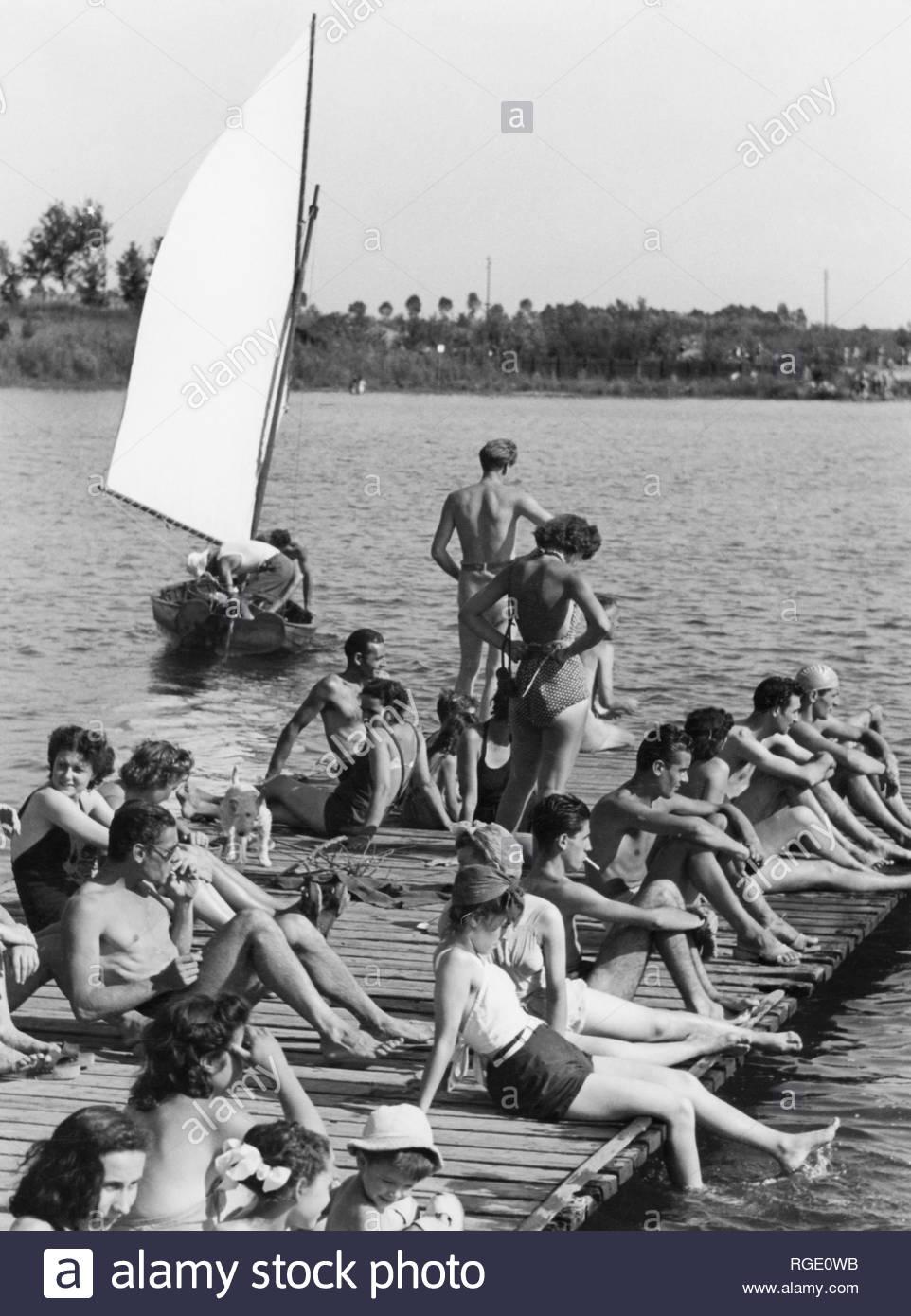 Idroscalo, 1950 circa.