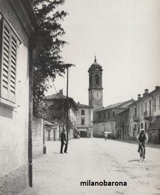 Sesto San Giovanni 1920 circa. Largo Lamarmora. (fonte fotografica: web colnaghistoriaestorie)