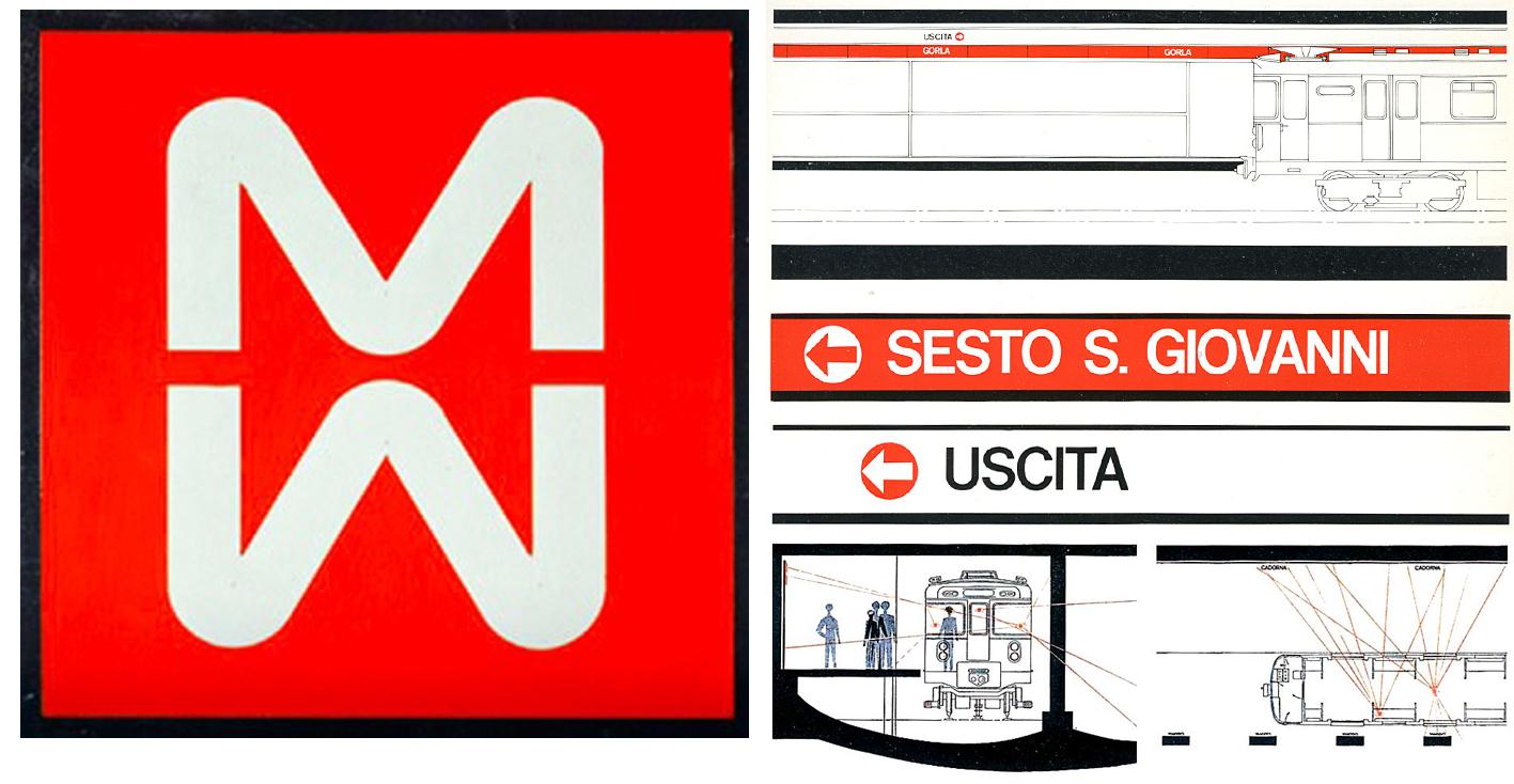 Il desiner olandese Bob Noorda collaboro' attivamente ai progetti di comunicazione visiva, segnaltetica e di design della Metropolitana Milanese, sia nelle fasi di realizzazione della tratta M1 come anche della M2. Approfondimenti: https://www.industrianova.it/2018/05/29/la-funzione-dei-segni-bob-noorda-maestro-della-comunicazione/ https://it.wikipedia.org/wiki/Bob_Noorda